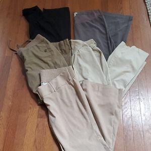Pants - Set of 5 Maternity Pants - size Large Lot